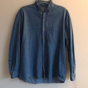 Mens Xl Dickies denim button up